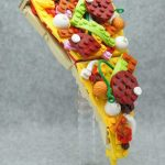 Food sculptures made from Lego blocks