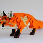 Wild animals produced from LEGO pieces