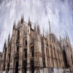 Blurred perspective oil paintings of cityscapes by Italian artist Valerio D'Ospina