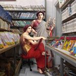 Artist Alexey Kondakov seamlessly combines classical paintings with contemporary life