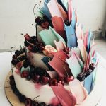 Chocolate brushstroke cakes from Russian bakers