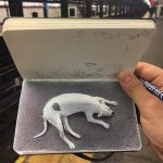 NY-based artist uses ballpoint pens to create realistic drawings in sketchbooks