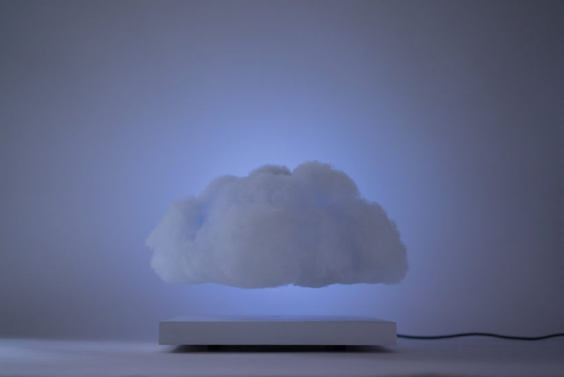 ... Lamp Is Powered By A Rechargeable Lithium Ion Battery, Embedded With  Magnetic Components In The Base And The Cloud That Allow The Light To Hover  ...