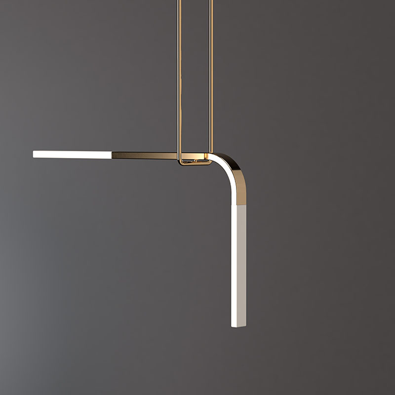 The Minimalist Lighting Collection Has Translucent Porcelain Arms That Are Supported By Suspended Trapeze