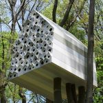 Unique tree house fit for one person and 78 Birds