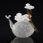 Exquisitely flameworked glass sculptures