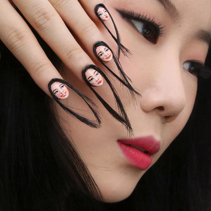 Hairy Selfie Nails By Korean Dain Yoon Vuing
