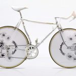 A luxurious bike customized with traditional Japanese art