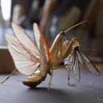 Lifelike bamboo insects by Japanese artist Noriyuki Saitoh