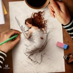 "Stunning digital illustration called ""Living Sketch"""