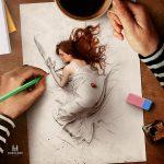 "Stunning digital illustration called ""Living Sketch"""