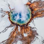 Aerial photographs of natural landscapes
