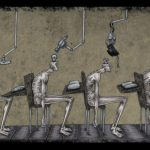 Satirical illustrations revealing the flaws in today's society