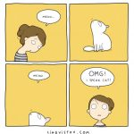 18 funny comics illustrating the life with a cat