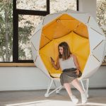 Comfortable chair designed for privacy in open spaces