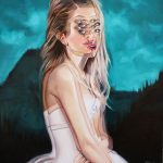 Overlapped portraits by Canadian artist Alex Garant