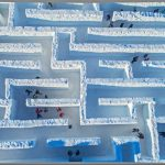 The largest snow labyrinth in the world