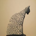 Three-dimensional animal sculptures look like they're formed from tree branches and twigs