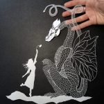 Paper cutting artworks by Maude White