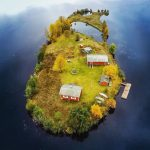 Finnish photographer from an aerial view documented the changing beauty of a small island in Finland through all 4 seasons