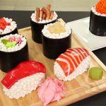 Realistic sushi cakes