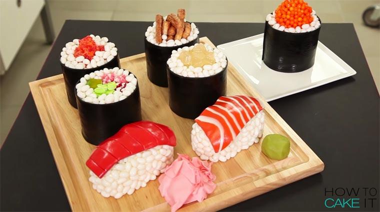 realistic sushi cakes. Black Bedroom Furniture Sets. Home Design Ideas